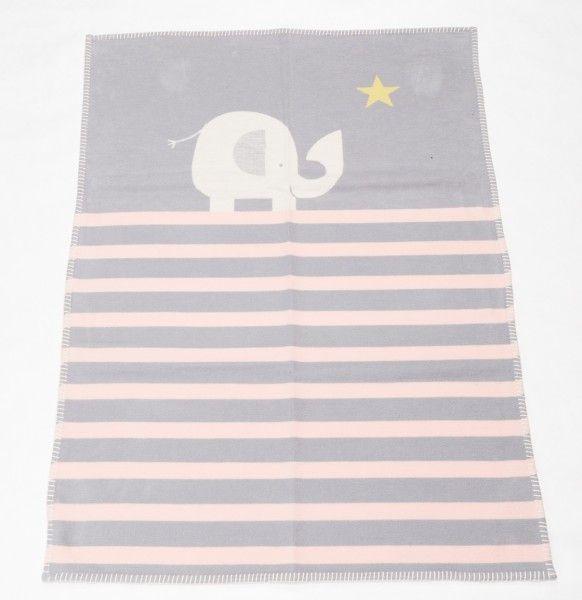 David Fussenegger Babydecke LENA Elefant rosa 75x100 cm