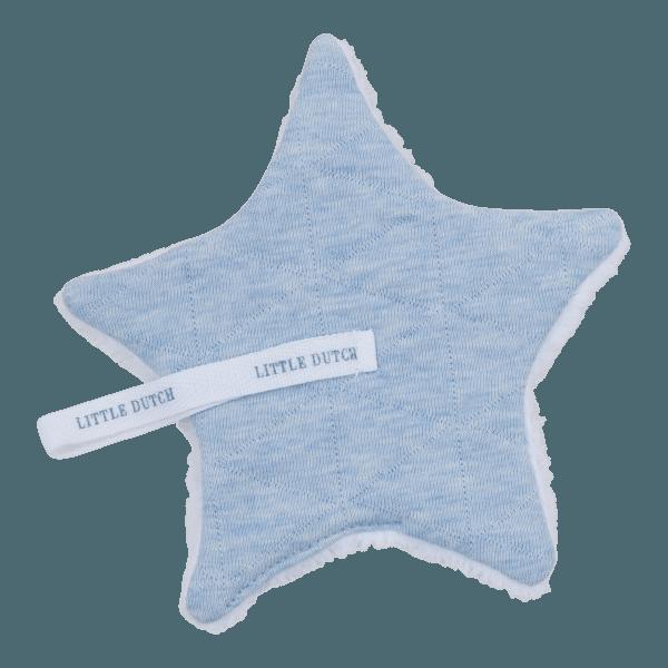 Little Dutch Schnullertuch Blue Melange