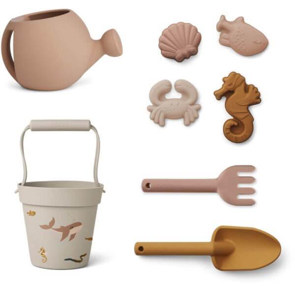 Liewood Garten- und Strandspielzeug Set Unterwasserwelt rosa_LW13097