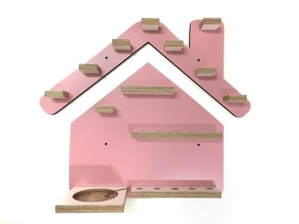 Kleine Schreiner Regal Haus für Tonie-Figuren Rosa