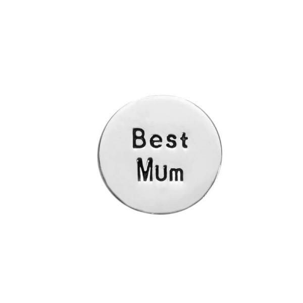"""PURELEI Charm """"Best Mum"""" Silber passend für Charmband"""