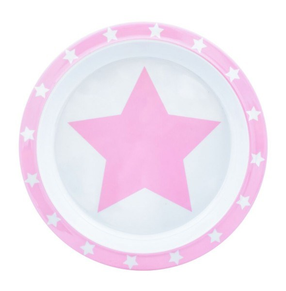 Pimpalou Teller Melamin Stars Rosa