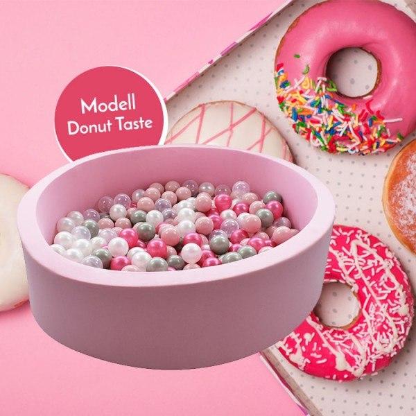 Meinbällebad rundes Bällebad Donut Rosa mit 300 Bällen