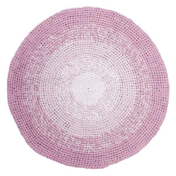 Sebra Häkelteppich Farbverlauf rosa