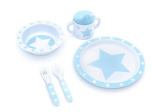 Pimpalou Geschirrset 5-teilig Melamin Stars Hellblau