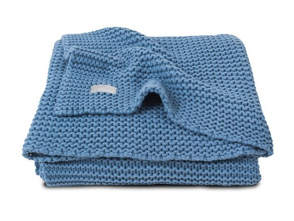 Jollein Decke heavy knit blau 75x100cm