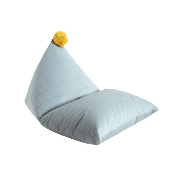 fayne Sitzkissen Pouf Blau/Gelb