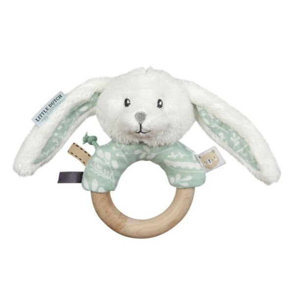Little Dutch Greifring Hase Adventure Mint