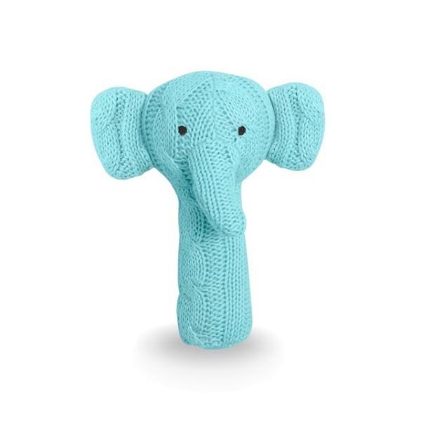 Jollein Rassel Elefant Cable Hellblau