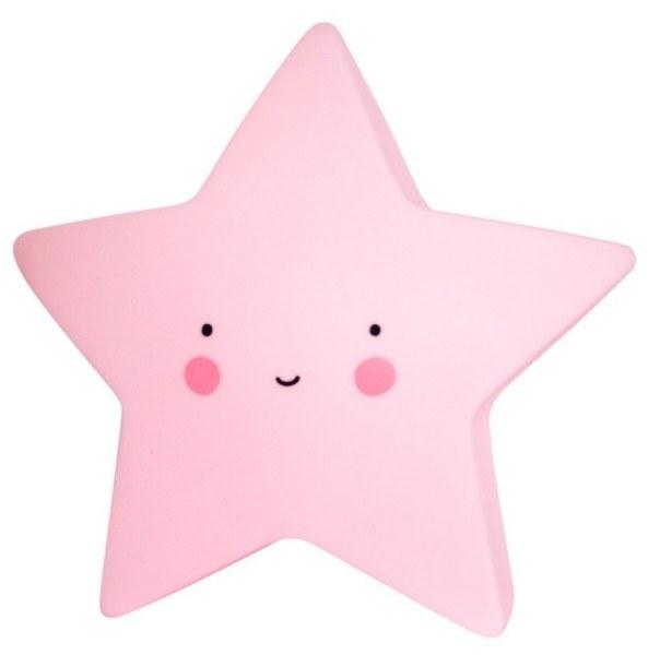 A Little Lovely Company Nachtlicht Stern Rosa