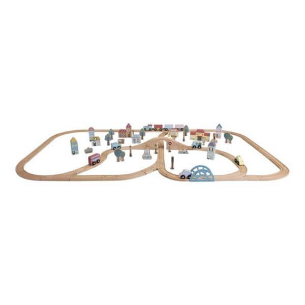 Litle Dutch Eisenbahn mit Schienen aus Holz_LD4487