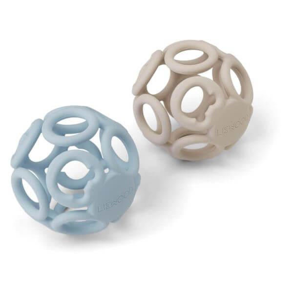 Liewood 2-er Set Beißball blau/beige_LW12943-5084