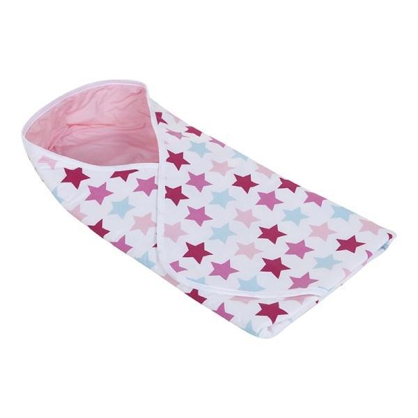 Little Dutch Wickeltuch Mixed Stars Pink