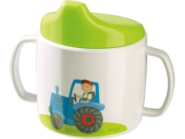 HABA Traktor Trinklerntasse Melamin