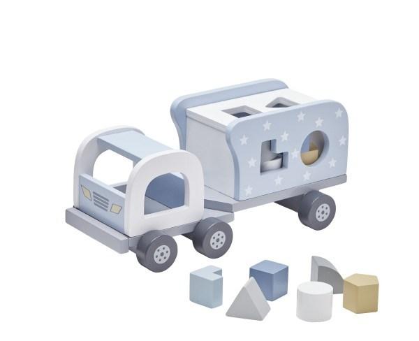Kid's Concept Steckspiel Lastwagen Pastell Blau