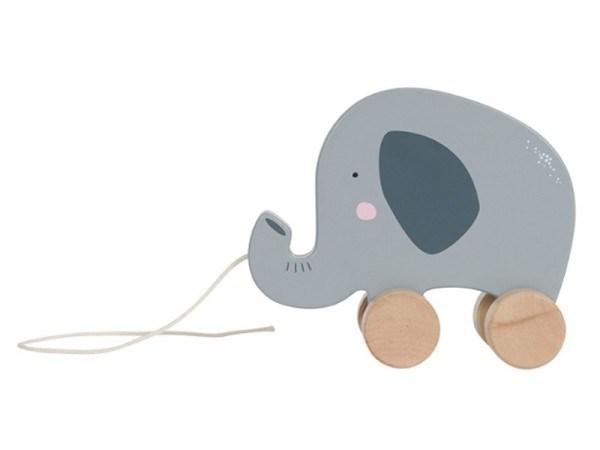 Little Dutch Holz Nachziehtier Elefant