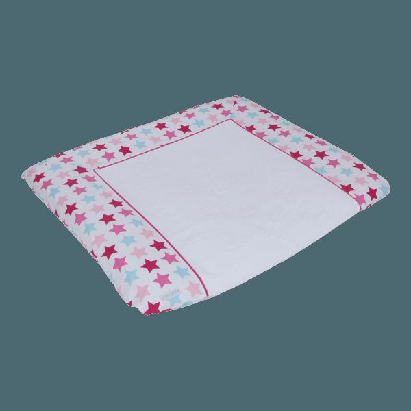 Little Dutch Wickelunterlagenbezug Mixed Stars Pink 75x85 cm (ohne Inlet)