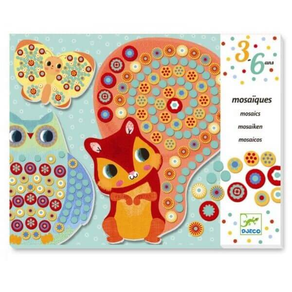 Djeco Kreativset Mosaik Milfiori Tiere