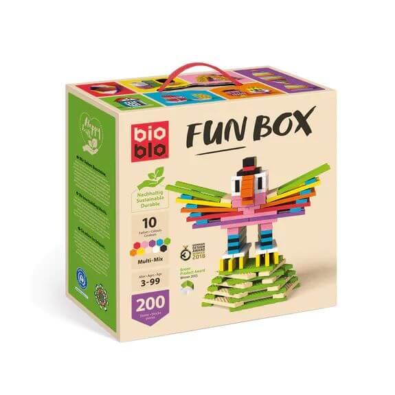 """bioblo FUN BOX """"Multi-Mix"""" mit 200 Bausteinen"""
