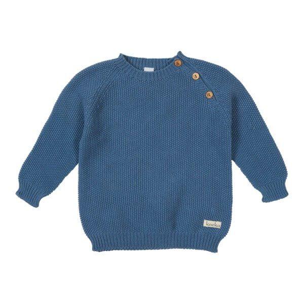 Koeka Baby Shirt Barley Stormy Blue