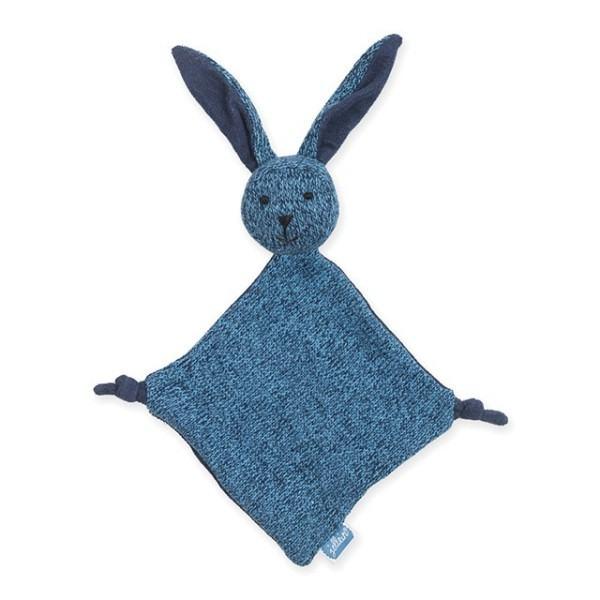 Jollein Schmusetuch Hase stonewashed knit Marine