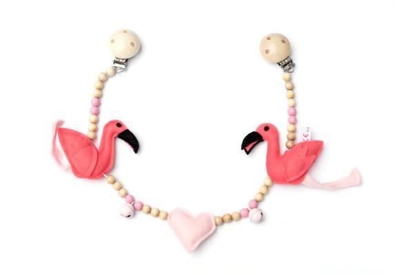 Deine Sommerliebe Kinderwagenkette Flamingo
