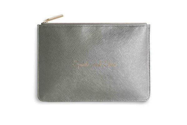 "Katie Loxton Clutch ""Sparkle And Shine"" KHAKI-METALLIC"