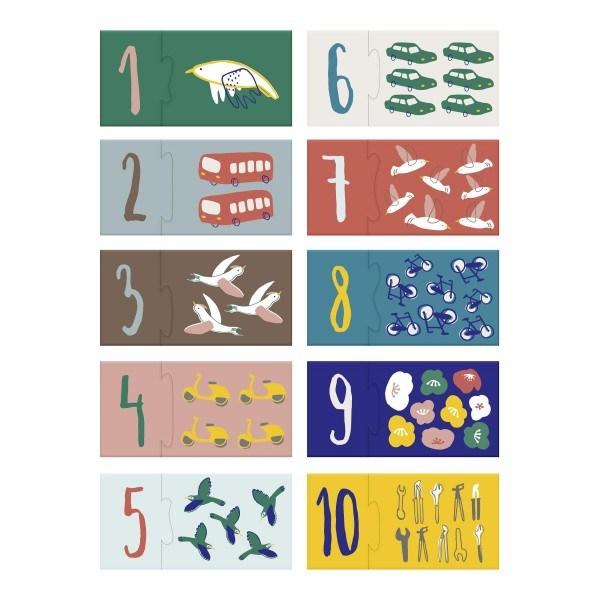 Sebra Puzzle mit Zahlen Driver/Singing Birds
