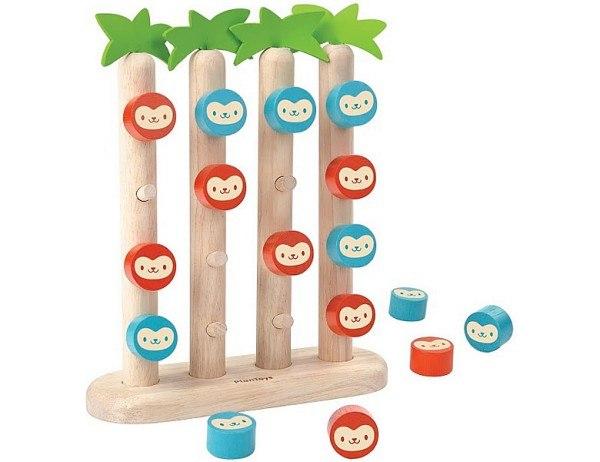 PlanToys Affen in einer Reihe