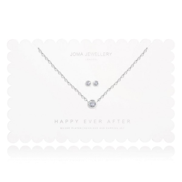 "Joma Jewellery Schmuckset ""Happy Ever After"" Clear Crystal"