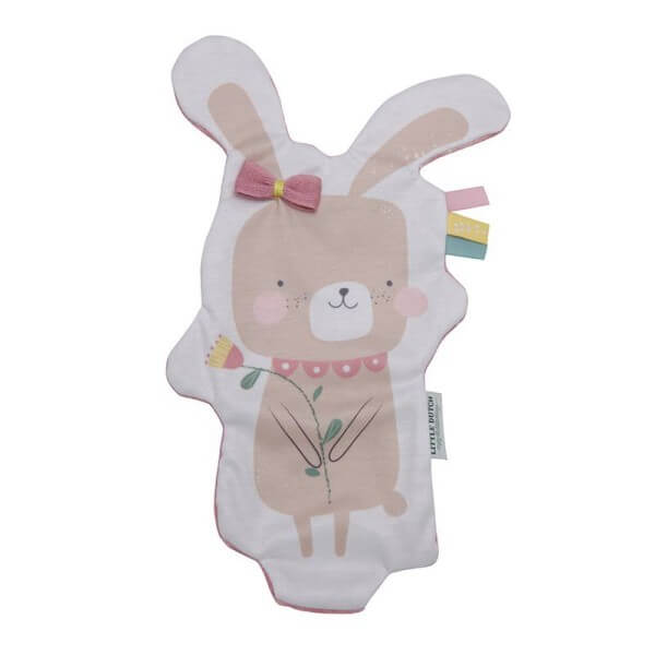 Little Dutch Knistertuch Hase Adventure Pink