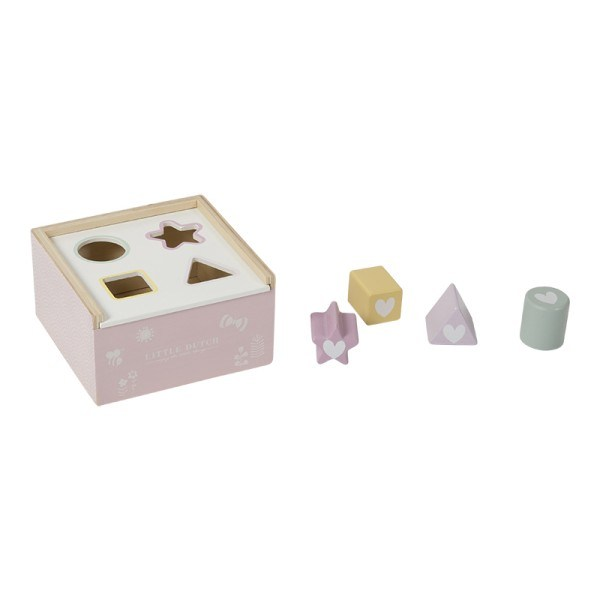 Little Dutch Formen-Steckspiel aus Holz Adventure Pink