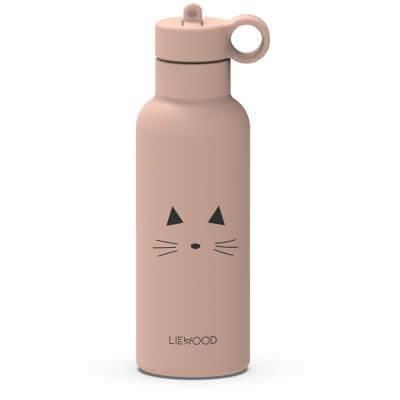 Liewood Trinkflasche 0,5l Katze Altrosa_LW13046-0022
