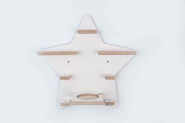 Kleine Schreiner Regal Stern magnetisch für 14 Tonie-Figuren Rosa_KS00023