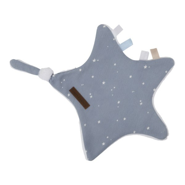 Little Dutch Kuscheltuch Stern Little Stars Blue