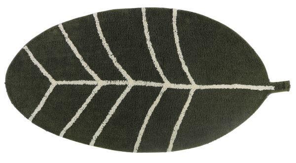 Tapis Petit Teppich Blatt grün 140 x 70_TPF1018