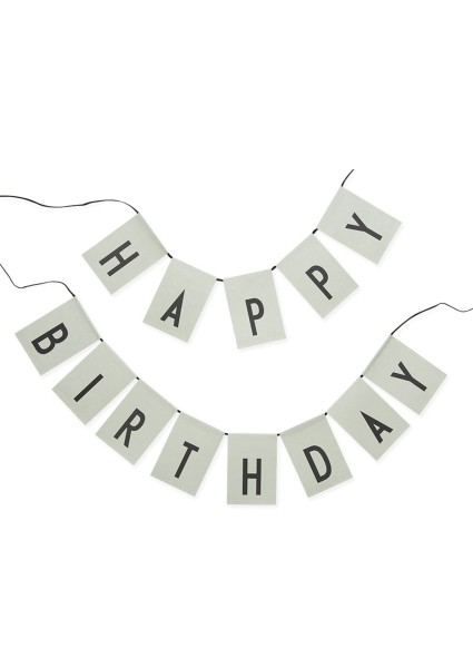 "Design Letters Girlande ""Happy Birthday"" in Grün"