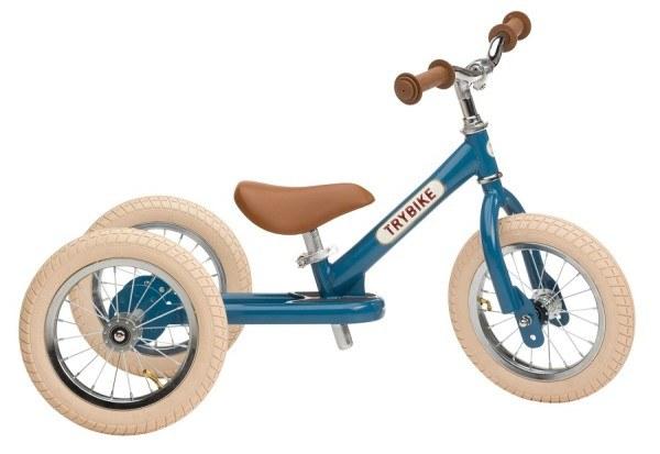 Trybike Laufrad Steel 2 in 1 Vintage Blau