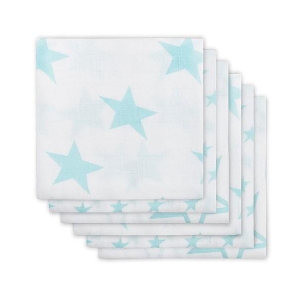 Jollein Mullwindeln Little Star Mint 6er-Set
