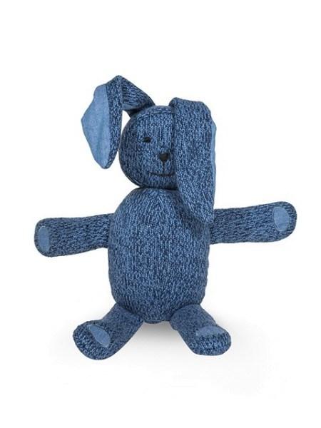 Jollein Schmusetier Hase stonewashed knit Marine