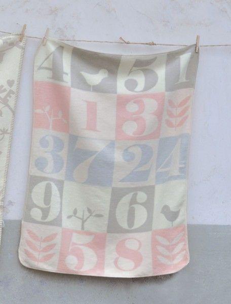 David Fussenegger Babydecke Maja Zahlenpatch rosa 75x100 cm