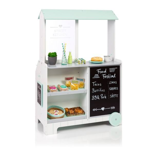 MUSTERKIND® Kaufladen Street Kitchen Piperis Weiß/Grau/Mint