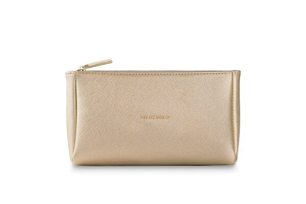 "Katie Loxton Make-Up Tasche ""Kiss And Make Up"" GOLD 22 x 11.5 cm"