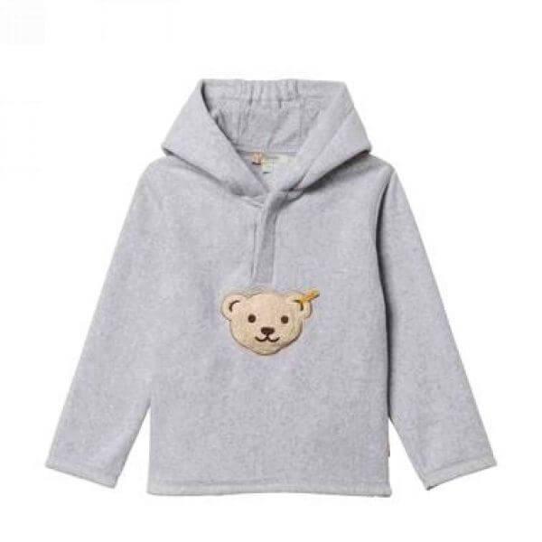 Steiff Sweatshirt Fleece in grau Gr:86