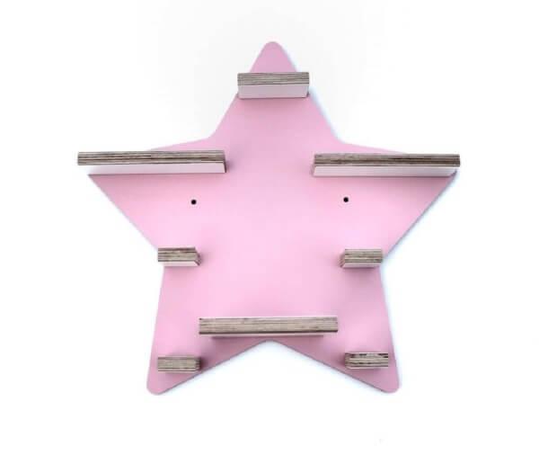 Kleine Schreiner Regal Stern für Tonie-Figuren Rosa