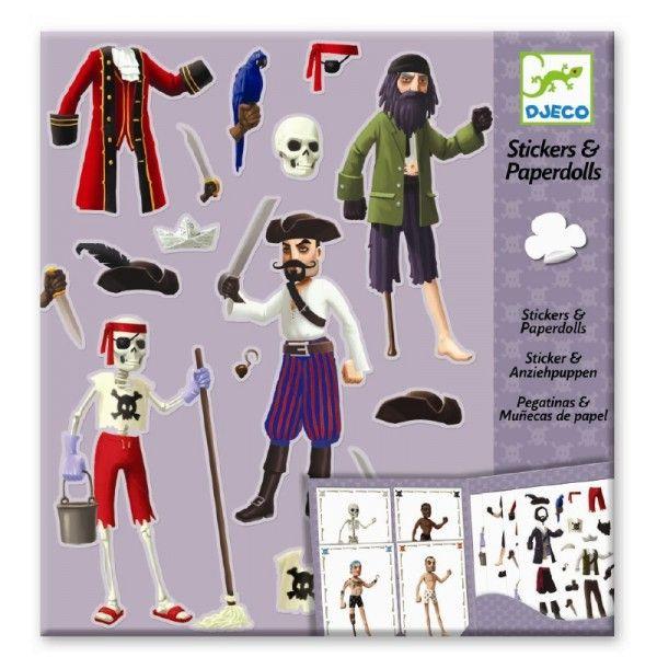 Djeco Kreativset Anziehpuppen Piraten