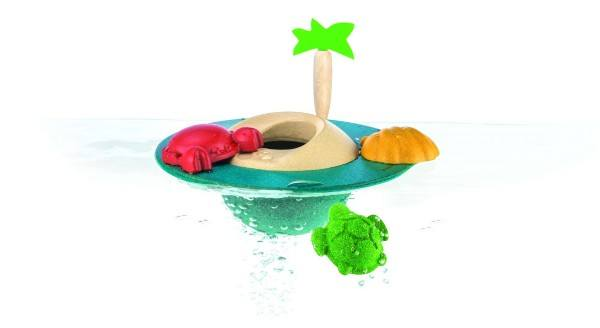 PlanToys Badespielzeug Spielinsel 5-teilig
