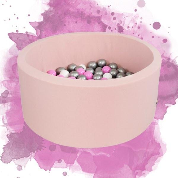 Misioo Bällebad rund Rosa 90 x 30 cm (ohne Bälle)
