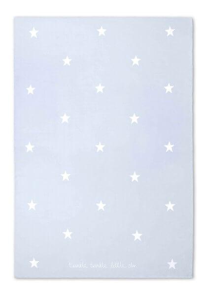 """Katie Loxton Babydecke mit Sternmuster """"Twinkle Twinkle Little Star"""" HELLBLAU 100 x 75 cm"""
