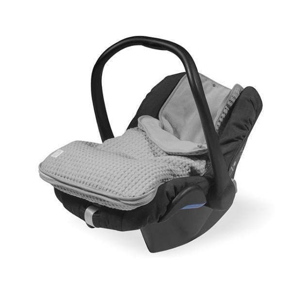 Jollein Komfortsack Kindersitz Waffle Grau 0-9 Monate
